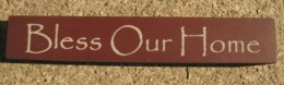 32320BM-Bless Our Home MINI wood block