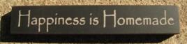 32321HB Happiness is Homemade mini wood block