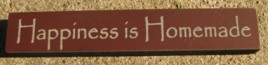 32321HM Happiness is Homemade mini wood block