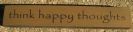 32321TG - Think Happy Thoughts mini wood block