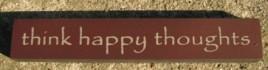 32321TM - Think Happy Thoughts mini wood block
