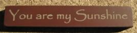 32325YM You Are My Sunshine mini wood block
