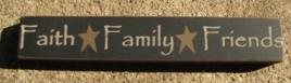 32328FB - Faith Family Friends wood block