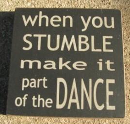 Primitive wood  block 32351WB When you Stumble make it part of the Dance