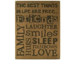 Primitive Wood Box Sign   32568 - The Best things in life are Free