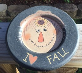 Primitive Wood Fall Plate 33609F - I love Fall Wood Plate