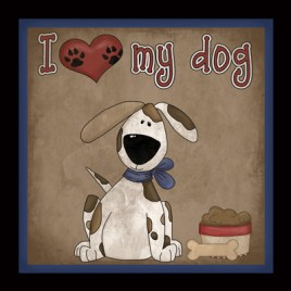 362D - I Love My Dog Plaque