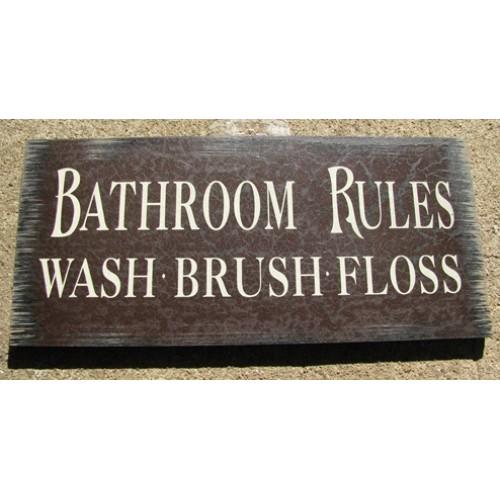 Strange Primitive Wood Bathroom Rules Sign 36907M Bathroom Rules Interior Design Ideas Ghosoteloinfo