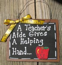 Teacher Gifts 38 Teacher AIde Helping Hand Wood Slate