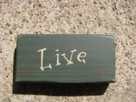 4003L - Live Mini wood block green
