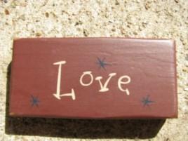 4007V - Love Mini wood block Burgundy