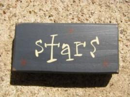 4008T - Stars Mini wood block Blue