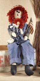 Primitive Doll 40687 Americana Raggedy Boy