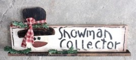 47026SCB - Snowman Collector Wood on Base