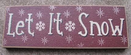 47142LIS - Let It Snow wood block