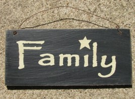 D4874Y - Family Sign Black wood sign
