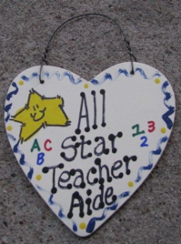 Teacher Gifts 5010 All Star Teacher Aide Heart