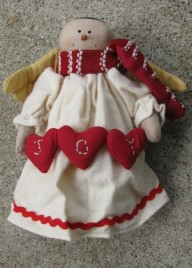 50654AJ - Cloth snowman angel Joy