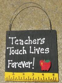 Teacher Gift 5206 Teachers Touch Lives Forever with Ruler/Apple