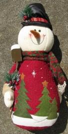 52730- Top Hat Stuffed Snowman with shovel