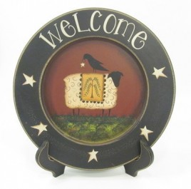55247 - Crow Sheep Plate w/stand