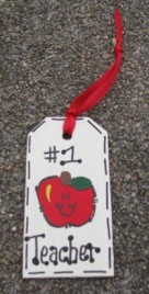 Teacher Gifts 56122NT All Star Number one Teacher Wood Teacher Tag