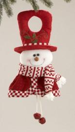 58161 Red White Snowman Doorknob