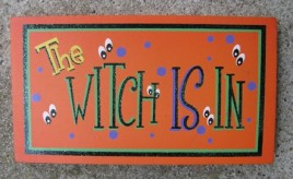 59038WN - The Witch is in wood Block