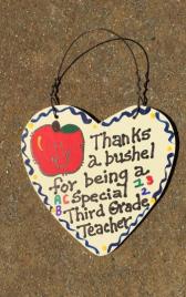 3rd Grade Teacher Gift Thanks a Bushel 6004 Third Grade Teacher