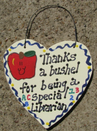 Teacher Gift  6013 Thanks a Bushel Special Librarian
