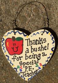 Teacher Gift  6014 Thanks a Bushel Special  P E Teacher