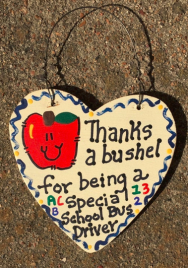 Teacher Gift  6015 Thanks a Bushel Special School Bus Driver