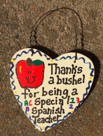 Spanish Teacher Gift 6024 Thanks a Bushel Special Spanish Teacher