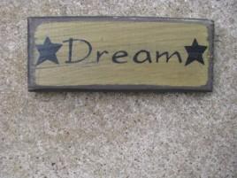 60272D - Dream wood sign