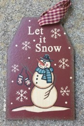 6087LIS - Let It Snow  Wood Hanging Tag