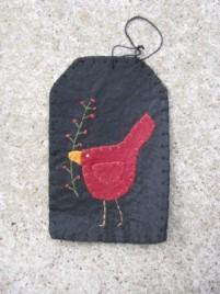 GT6718C- Cardinal Felt Gift Tag