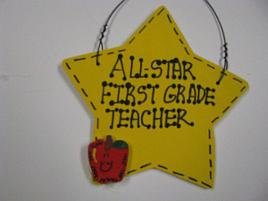 Teacher Gift 7005 All Star First Grade Teacher