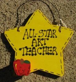 Art Teacher Gifts Yellow 7007 All Star Art Teacher