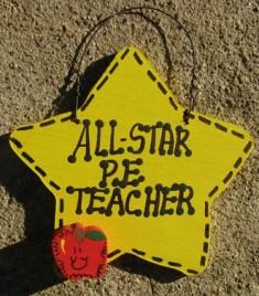 Art Teacher Gifts Yellow 7014 All Star  P.E. Teacher