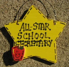 School Secretary Gifts Yellow 7018 All Star School Secretary