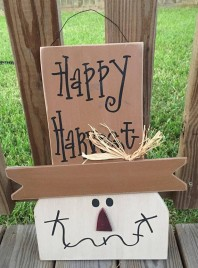 Fall Decor 73039NB - Happy Harvest Hanging Wood Scarecrow