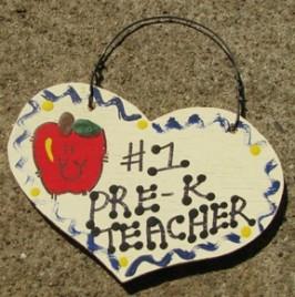 Teacher Gifts  803K Pre-K Teacher Wood Teacher Heart