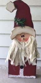 8350 - Standing wood Santa with Beard