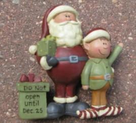 83863 - Santa and Elf Don't Open until Dec 25th