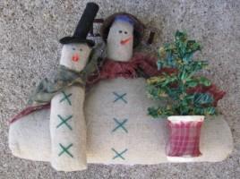 86408-Primitive Snowman w/tree