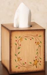 Primitive Tissue Box Cover Paper Mache' 8TB2508-StarryVine