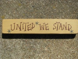 M9001UWS - United We Stand wood block