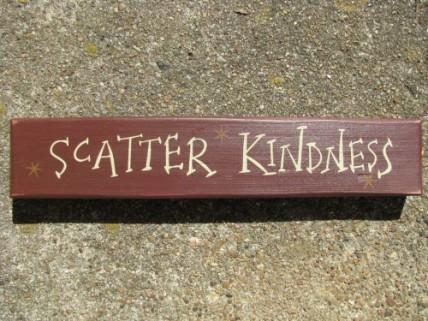 3M9004SK- Scatter Kindness wood block