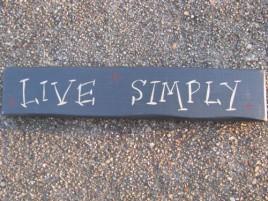 9008LS Live Simply  wood block