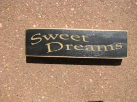 PBW934B - Sweet Dreams Wood Block